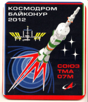 Soyuz TMA-07M Mission Insignia Decal - Backup Crew